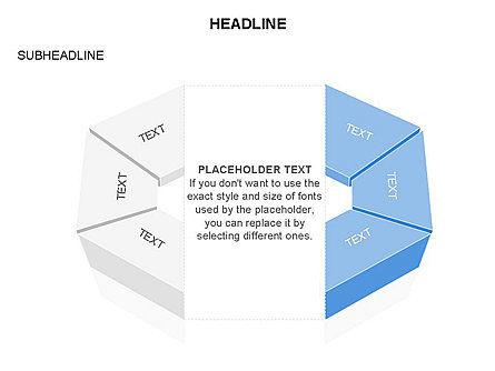 Sectors and Shapes, Slide 23, 03443, Pie Charts — PoweredTemplate.com