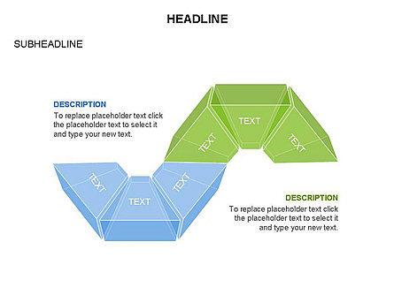 Sectors and Shapes, Slide 26, 03443, Pie Charts — PoweredTemplate.com