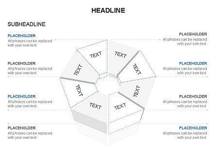 Sectors and Shapes, Slide 28, 03443, Pie Charts — PoweredTemplate.com