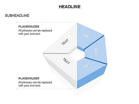 Sectors and Shapes, Slide 7, 03443, Pie Charts — PoweredTemplate.com