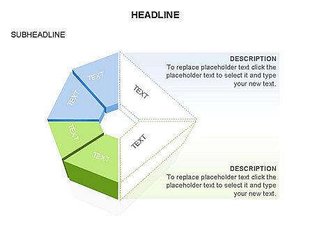Sectors and Shapes, Slide 8, 03443, Pie Charts — PoweredTemplate.com