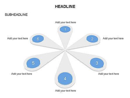 Petal Diagram Toolbox, Slide 18, 03450, Shapes — PoweredTemplate.com