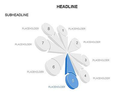 Petal Diagram Toolbox, Slide 19, 03450, Shapes — PoweredTemplate.com