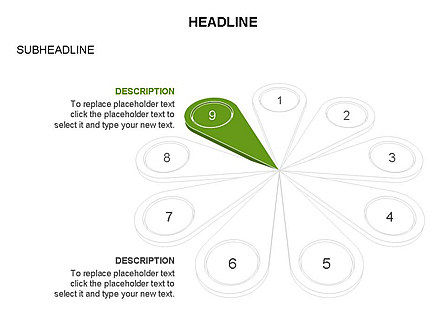 Petal Diagram Toolbox, Slide 20, 03450, Shapes — PoweredTemplate.com