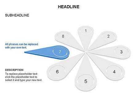 Petal Diagram Toolbox, Slide 22, 03450, Shapes — PoweredTemplate.com