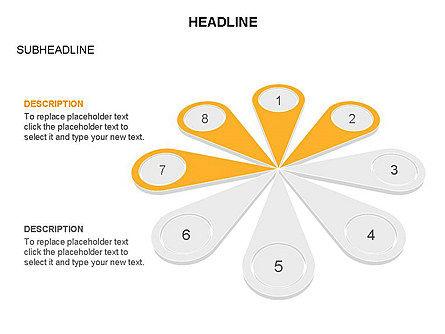 Petal Diagram Toolbox, Slide 23, 03450, Shapes — PoweredTemplate.com