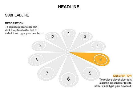 Petal Diagram Toolbox, Slide 27, 03450, Shapes — PoweredTemplate.com