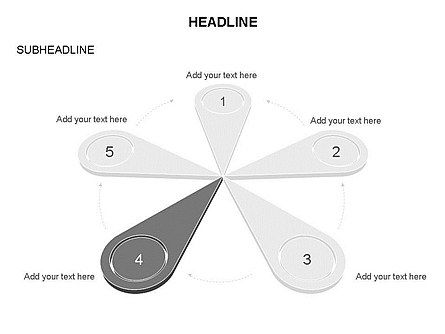 Petal Diagram Toolbox, Slide 33, 03450, Shapes — PoweredTemplate.com