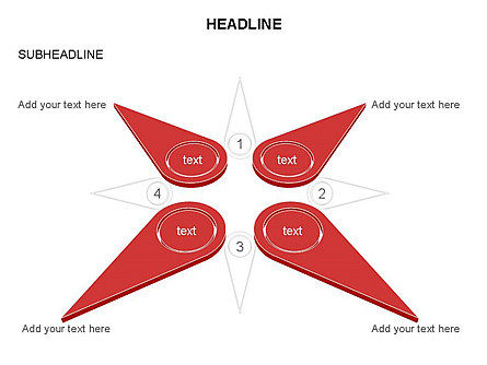 Petal Diagram Toolbox, Slide 35, 03450, Shapes — PoweredTemplate.com