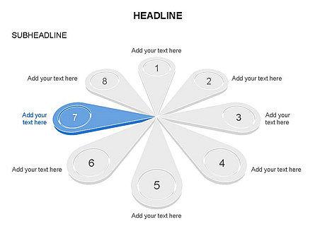 Petal Diagram Toolbox, Slide 6, 03450, Shapes — PoweredTemplate.com