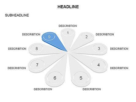 Petal Diagram Toolbox, Slide 7, 03450, Shapes — PoweredTemplate.com