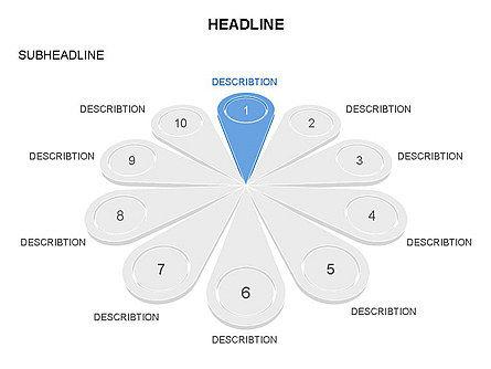 Petal Diagram Toolbox, Slide 8, 03450, Shapes — PoweredTemplate.com