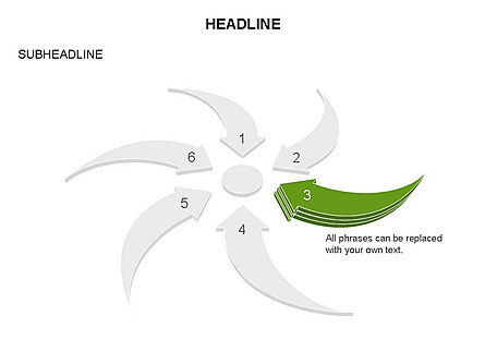 Curved Arrows Collection, Slide 12, 03452, Process Diagrams — PoweredTemplate.com
