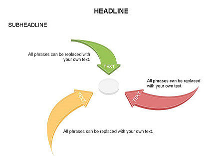 Curved Arrows Collection, Slide 8, 03452, Process Diagrams — PoweredTemplate.com