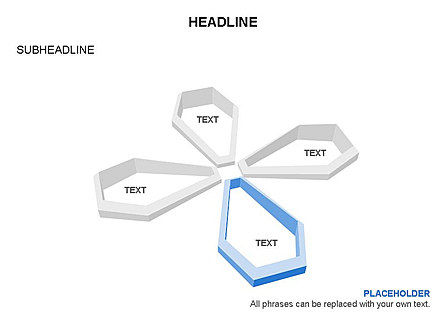 Petal Shapes Cycle Diagram, Slide 15, 03457, Stage Diagrams — PoweredTemplate.com