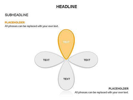 Petal Shapes Cycle Diagram, Slide 24, 03457, Stage Diagrams — PoweredTemplate.com