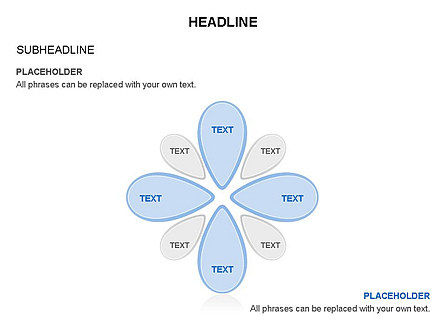 Petal Shapes Cycle Diagram, Slide 25, 03457, Stage Diagrams — PoweredTemplate.com
