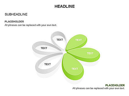 Petal Shapes Cycle Diagram, Slide 27, 03457, Stage Diagrams — PoweredTemplate.com