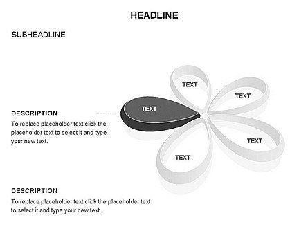 Petal Shapes Cycle Diagram, Slide 31, 03457, Stage Diagrams — PoweredTemplate.com