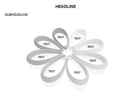 Petal Shapes Cycle Diagram, Slide 32, 03457, Stage Diagrams — PoweredTemplate.com