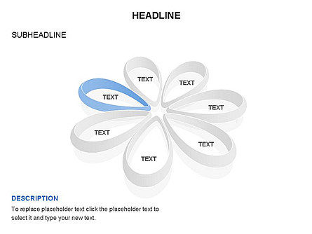 Petal Shapes Cycle Diagram, Slide 5, 03457, Stage Diagrams — PoweredTemplate.com
