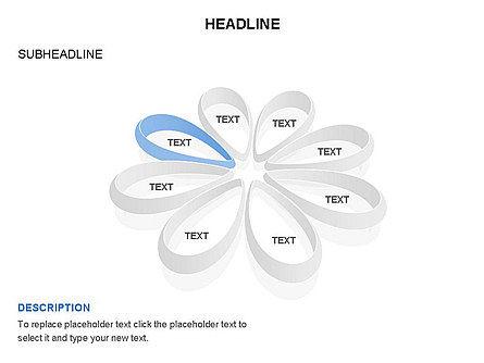 Petal Shapes Cycle Diagram, Slide 6, 03457, Stage Diagrams — PoweredTemplate.com
