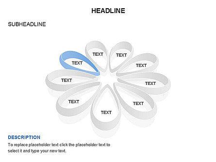 Petal Shapes Cycle Diagram, Slide 7, 03457, Stage Diagrams — PoweredTemplate.com