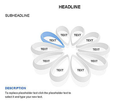 Petal Shapes Cycle Diagram, Slide 8, 03457, Stage Diagrams — PoweredTemplate.com
