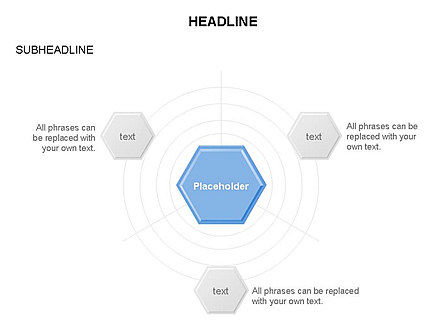 Business Models: Interacting Hexagons Diagram #03459