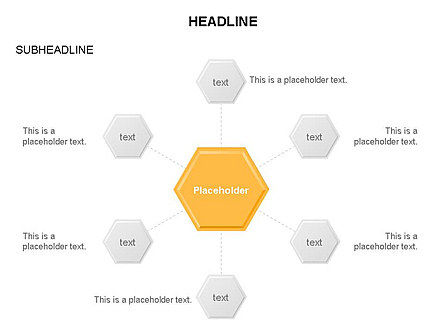 Interacting Hexagons Diagram, Slide 10, 03459, Business Models — PoweredTemplate.com