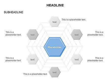 Interacting Hexagons Diagram, Slide 11, 03459, Business Models — PoweredTemplate.com