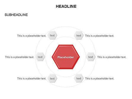 Interacting Hexagons Diagram, Slide 12, 03459, Business Models — PoweredTemplate.com