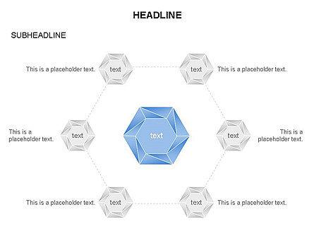 Interacting Hexagons Diagram, Slide 13, 03459, Business Models — PoweredTemplate.com