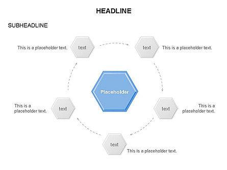 Interacting Hexagons Diagram, Slide 14, 03459, Business Models — PoweredTemplate.com