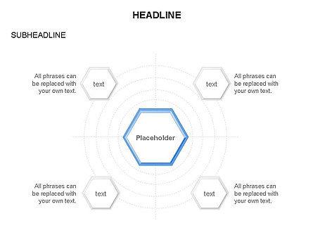 Interacting Hexagons Diagram, Slide 15, 03459, Business Models — PoweredTemplate.com