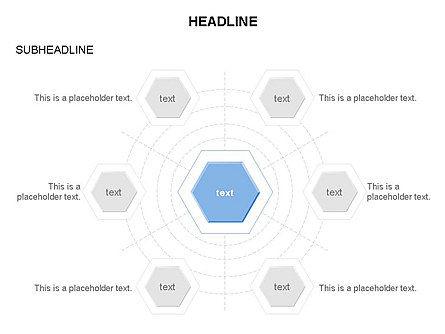 Interacting Hexagons Diagram, Slide 16, 03459, Business Models — PoweredTemplate.com