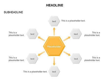 Interacting Hexagons Diagram, Slide 17, 03459, Business Models — PoweredTemplate.com