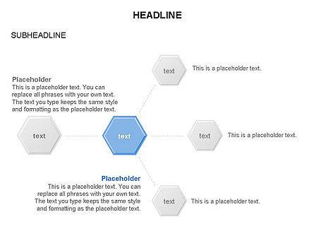 Interacting Hexagons Diagram, Slide 18, 03459, Business Models — PoweredTemplate.com