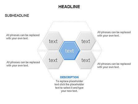 Interacting Hexagons Diagram, Slide 19, 03459, Business Models — PoweredTemplate.com