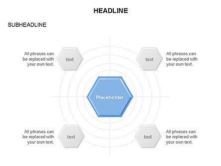 Interacting Hexagons Diagram, Slide 2, 03459, Business Models — PoweredTemplate.com