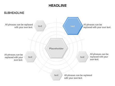 Interacting Hexagons Diagram, Slide 20, 03459, Business Models — PoweredTemplate.com