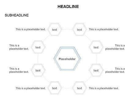 Interacting Hexagons Diagram, Slide 21, 03459, Business Models — PoweredTemplate.com