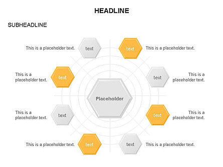 Interacting Hexagons Diagram, Slide 22, 03459, Business Models — PoweredTemplate.com