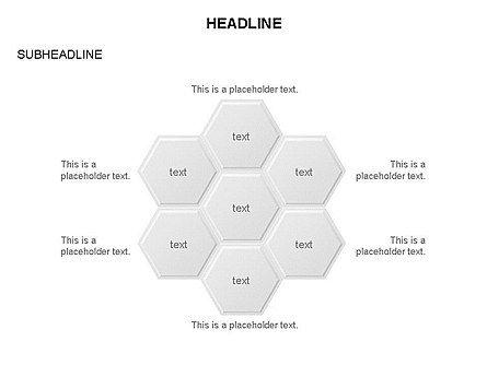 Interacting Hexagons Diagram, Slide 24, 03459, Business Models — PoweredTemplate.com