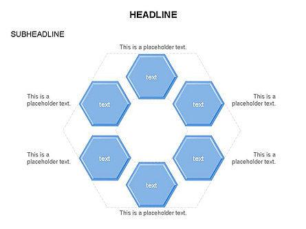 Interacting Hexagons Diagram, Slide 25, 03459, Business Models — PoweredTemplate.com