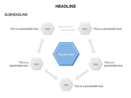 Interacting Hexagons Diagram, Slide 26, 03459, Business Models — PoweredTemplate.com