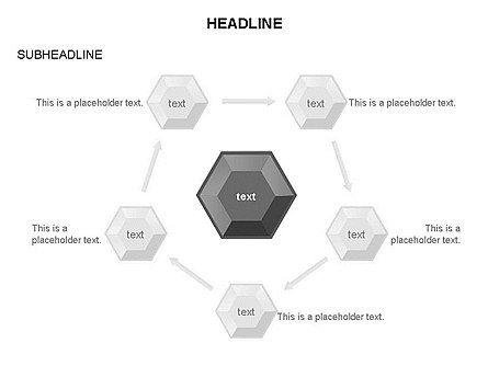 Interacting Hexagons Diagram, Slide 27, 03459, Business Models — PoweredTemplate.com