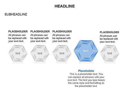 Interacting Hexagons Diagram, Slide 28, 03459, Business Models — PoweredTemplate.com