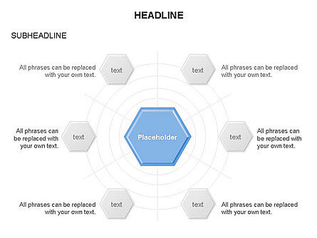 Interacting Hexagons Diagram, Slide 4, 03459, Business Models — PoweredTemplate.com