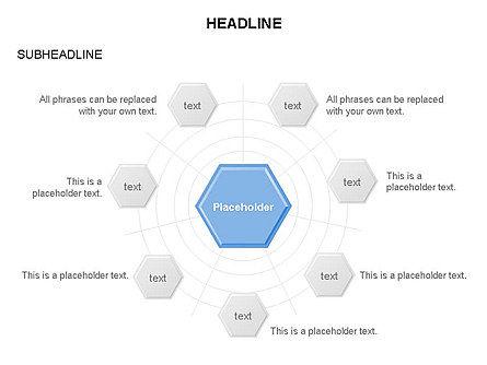 Interacting Hexagons Diagram, Slide 5, 03459, Business Models — PoweredTemplate.com